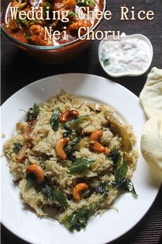 YUMMY TUMMY: Perfect Ghee Rice Recipe - South Indian Wedding Style Nei Choru Recipe Veg Recipes, Indian Food Recipes, Vegetarian Recipes, Cooking Recipes, Healthy Recipes, Ethnic Recipes, Kerala Recipes, Healthy Food, Ghee Rice Recipe