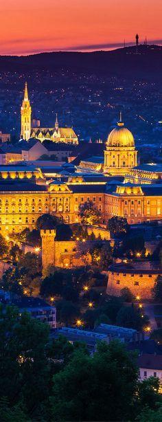 Budapest, Hungary at dusk makes a magical sight.