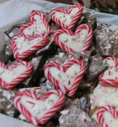 these peppermint hearts are super easy and really cute-I make them every Christmas