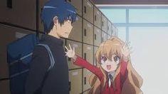 Taiga quiere abrazar a Kitamura (que no sale en la imagen esta atras)