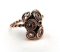 Wire Wrap Lesson Twisted Wire Ring Tutorial  2 por FashionWire, $7.00