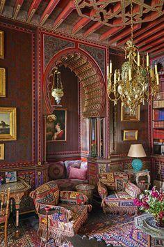 An Intimate Look Inside Yves Saint Laurent's Private Marrakech Home - Yves Saint Laurent Villa Marrakesh - Moroccan Design, Moroccan Decor, Moroccan Style, Elle Decor, Design Marocain, Moroccan Interiors, Interior Decorating, Interior Design, Design Art