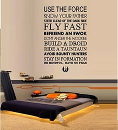 """USE THE FORCE ~ STAR WARS: WALL DECAL 13"""" X 20"""" Best Priced Decals: CHILDREN http://www.amazon.com/dp/B00E5MHO1W/ref=cm_sw_r_pi_dp_pQJQtb1NYCKH7GJP"""