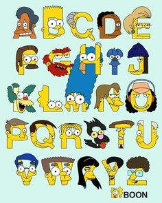 Simpsons Alphabet Art Print  @Lisa Phillips-Barton Phillips-Barton Randolph - you need this!