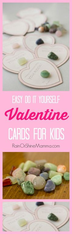 DIY Valentine Cards for Kids. These handmade valentines for kids are easy and fun to make! Chances are you can make them using materials that you already have on hand. Rain or Shine Mamma.