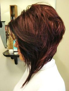 Angled Textured Bob for Fine Hair
