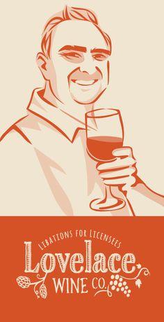 vector illustration and logo by www.shanashay.com  #wine #logo #vectorart