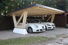 The carport is a series of roofs and walls that protect vehicles, such as cars, motorbikes, or bicycles from heat and rain. The difference with a garage, the carport does not have a full wall on al… Design Garage, Carport Designs, Roof Design, Exterior Design, Design Room, Carport Garage, Pergola Carport, Carport Canopy, Wooden Pergola