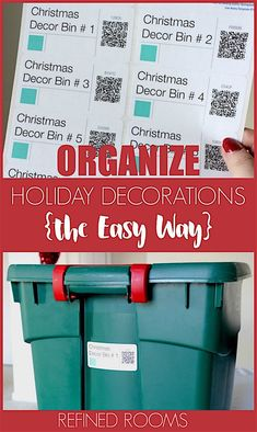 My New (& improved!) Method for Organizing Holiday Decorations Got holiday decor clutter? Learn how I used the Sortly app to organize holiday decorations.it was SO EASY! Create labels with QR codes to easily identify your storage bin items. This is BIG. Organizing Labels, Paper Organization, Organizing Your Home, Life Organization, Organizing Ideas, Organizing Paperwork, Holiday Storage, Christmas Storage, Christmas Planning