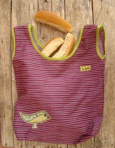 Bolsa para pan con aplique - Bolsa multiuso decorada - Bolsa para compras  Divertida bolsa para guardar pan o lo que quieras!