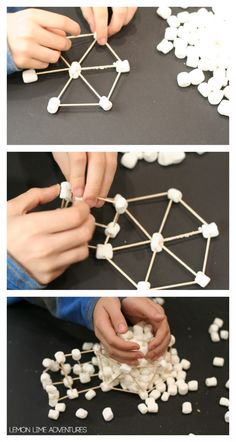 You might have realized we are slightly obsessed with building projects for kids. Our lastest adventure includes building igloos with marshmallows. Marshmallow Activities, Marshmallow Crafts, Stem Projects, Projects For Kids, Science Projects, Winter Activities, Preschool Activities, Advent Activities, Igloo Craft