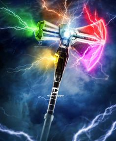 Stormbreaker, the hammer Thor with the Infinity Gems - Stormbreaker, o martelo de Thor com as Joias do Infinito Marvel Avengers, Captain Marvel, Marvel Comics, Marvel Heroes, Captain America, Assassins Creed Unity, Comics Universe, Marvel Cinematic Universe, Batman Vs