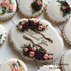 Thank you cookie set. Sugar Cookie Icing, Cookie Frosting, Royal Icing Cookies, Cupcake Cookies, Sugar Cookies, Thank You Cupcakes, Thank You Cake, Thank You Cookies, Elegant Cookies
