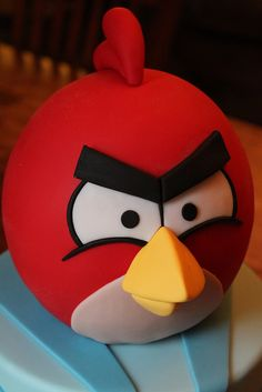 Red Angry Bird cake   Flickr - Photo Sharing!
