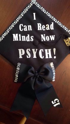 Decorated Graduation Cap. Psychology, Human Services
