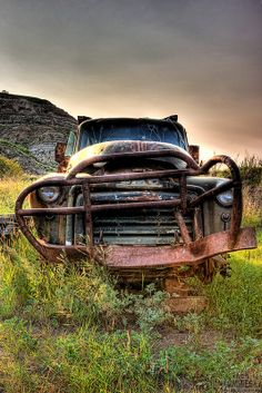 Old Rusted Trucks | Old rusty abandoned truck in the Badlands, Alberta, Canada | Ken ...