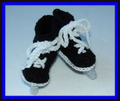 Amazing Crocheted Hockey Skates Baby BootiesMakes a by SoxThatRock, $19.99