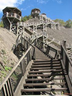 Les escaliers du parc de la chute Montmorency, QC