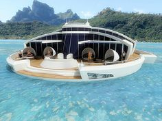 Solar Floating Resort with Fully Submerged Observation Bulb | The Design Inspiration