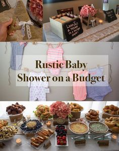 How to throw a rustic themed Baby Shower Brunch on a budget!! Click picture for tips!