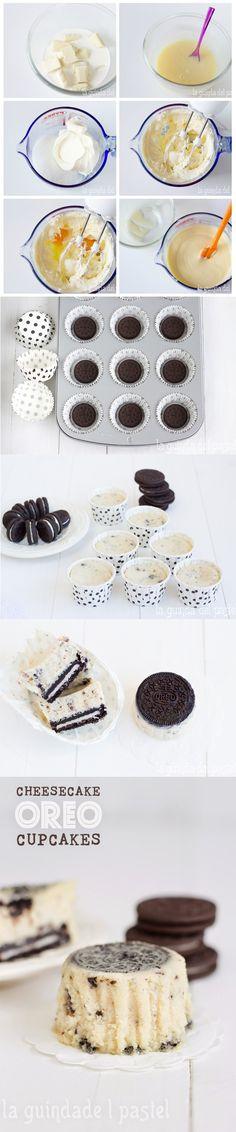 Cheesecake Oreo Cupcakes - Pecados de Reposteria