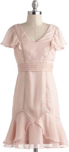 ModCloth Rose Quartz Reverie Dress - Lyst
