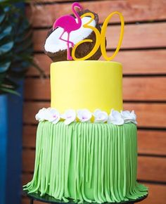 The second cake from @niknakssweetesttreats amazing display with our custom 3D cake topper  #glisteningoccasions #cake #cakes #cakeart #caketopper #caketoppers #hawaii #flamingo #tropical #party #30 #thirty #style #happybirthday #celebrate #celebration #party