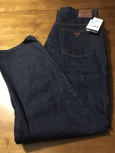 Guess ? Jeans Pascal 075 Loose Fit Tapered Leg Men's Dark Blue Size 38 X 31 NWT #GUESS #ClassicStraightLeg