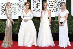 Globo de Ouro 2017: Vestidos brancos para inspirar as noivas
