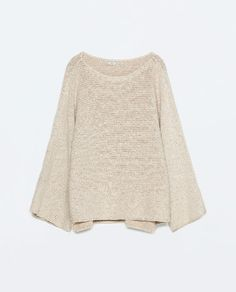 ZARA - WOMAN - SWEATER WITH SLIT SLEEVES