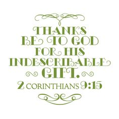 2 Corinthians 9:15 and other printables
