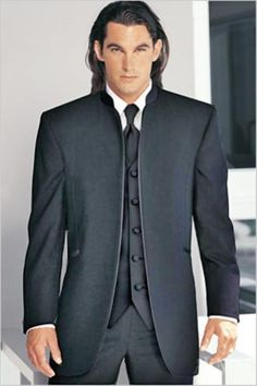 Banded Preacher Nehru Chinese Collar Shirt Suit Blazer Jacket Without 1360cadf90bb