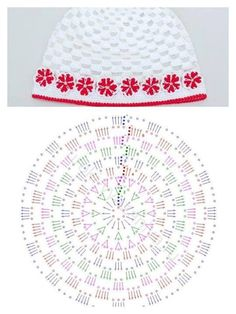 New crochet baby bonnet diagram hat patterns Ideas Crochet Baby Bonnet, Crochet Cap, Crochet Diagram, Crochet Beanie, Crochet Motif, Crochet Flowers, Crochet Stitches, Crochet Patterns, Hat Patterns
