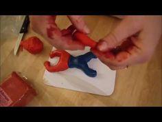 Anleitung für einen Spiderman Topper Motivtorte backen und dekorieren - YouTube