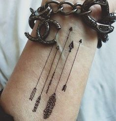 arrow tattoos for women - Google Search