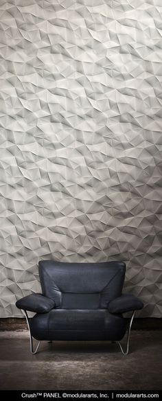 Dimensional panels that work in multiples to create a continuous, uninterrupted sculptural wall.