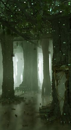 51 Enigmatic Forest Concept Art that will amaze you - Scenery -. - 51 Enigmatic Forest Concept Art that will amaze you – Scenery – # - Fantasy City, Fantasy Places, Fantasy Kunst, Fantasy World, Environment Concept, Environment Design, Cave City, Graphisches Design, Fantasy Concept Art