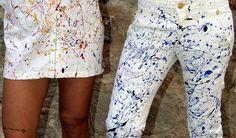 #estherramos #ropa #arte #pintura #cuadro #pigmento #tela #ropaexclusiva #tejanos #jeans #vaqueros #pantalones