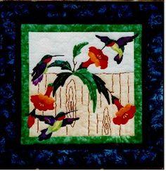 hummingbird quilt | Applique Bird Quilting Patterns