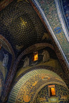 Mausoleum of Galla Placidia, #Ravenna by sdhaddow, via Flickr #mosaics