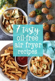 Oil-Free Air Fryer Chips - Garlic Parm Flavor | Vegan Recipes | Clean Eating Recipes