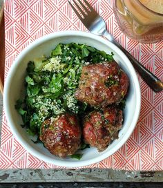 AIP Anti-Inflammatory Meatballs Makes 12 meatballs | Ready in 25 minutes   2 lbs ground veal Zest of 1 lime ¼ cup chopped cilantro, tightly packed 5 garlic cloves, crushed ½ tsp ground ginger ¼ tsp sea salt
