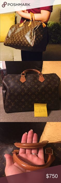 Authentic Louis Vuitton Speedy 35 with auth CLES‼️ Authentic Louis Vuitton Speedy 35. This bag is in very good condition.  Monogram canvas and interior lining is very beautiful. Comes with an authentic Mono CLES!!! Also lock and one key. Date code is TH0054. Dimensions are W14 x H9 x D2.7 in. Will post more pics. Please see all pics before purchase. Cross posted.  $600 thru 🅿️🅿️ Louis Vuitton Bags