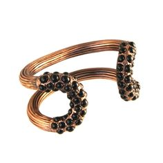 Giles & Brother - Encrusted Cortina Cuff Rose Gold