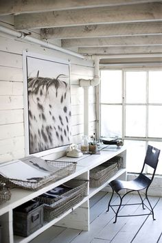 beautiful and relaxing at-home work office environment... yes, please!