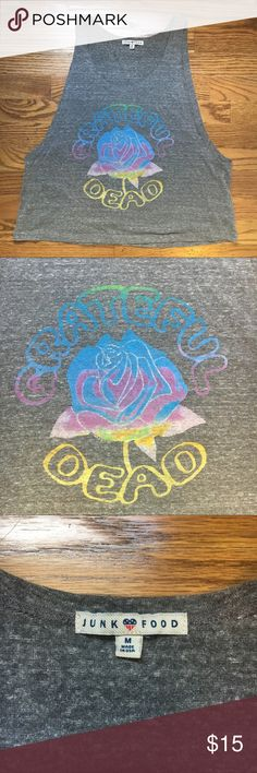 Grateful Dead lotus muscle tank Super cute! Great for working out in if work over a sports bra, or wearing to a concert. Let me know if you have questions Junk Food Tops Tank Tops
