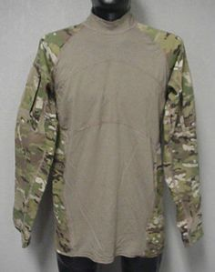 USGI MULTICAM ARMY COMBAT SHIRT ACS MASSIF, SMALL,  FLAME RESISTANT, USED #MASSIF