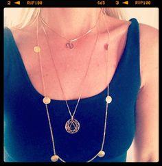 Chakra and Diasy Necklace  http://www.cottonandgems.com/jewellery/necklaces/daisy-sahara-coin-necklace http://www.cottonandgems.com/jewellery/necklaces?designer=Daisy+London+Chakra