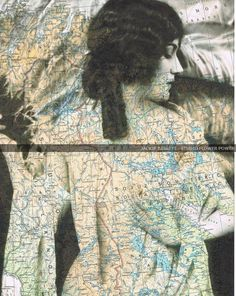 Map Collage Birthday gift Book Page
