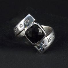 Ring Black & White  / Pierścionek CZARNO - BIAŁY